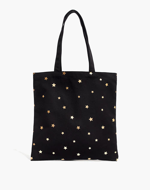 36ccd3388 The Reusable Canvas Tote: Star Edition in true black star image 1