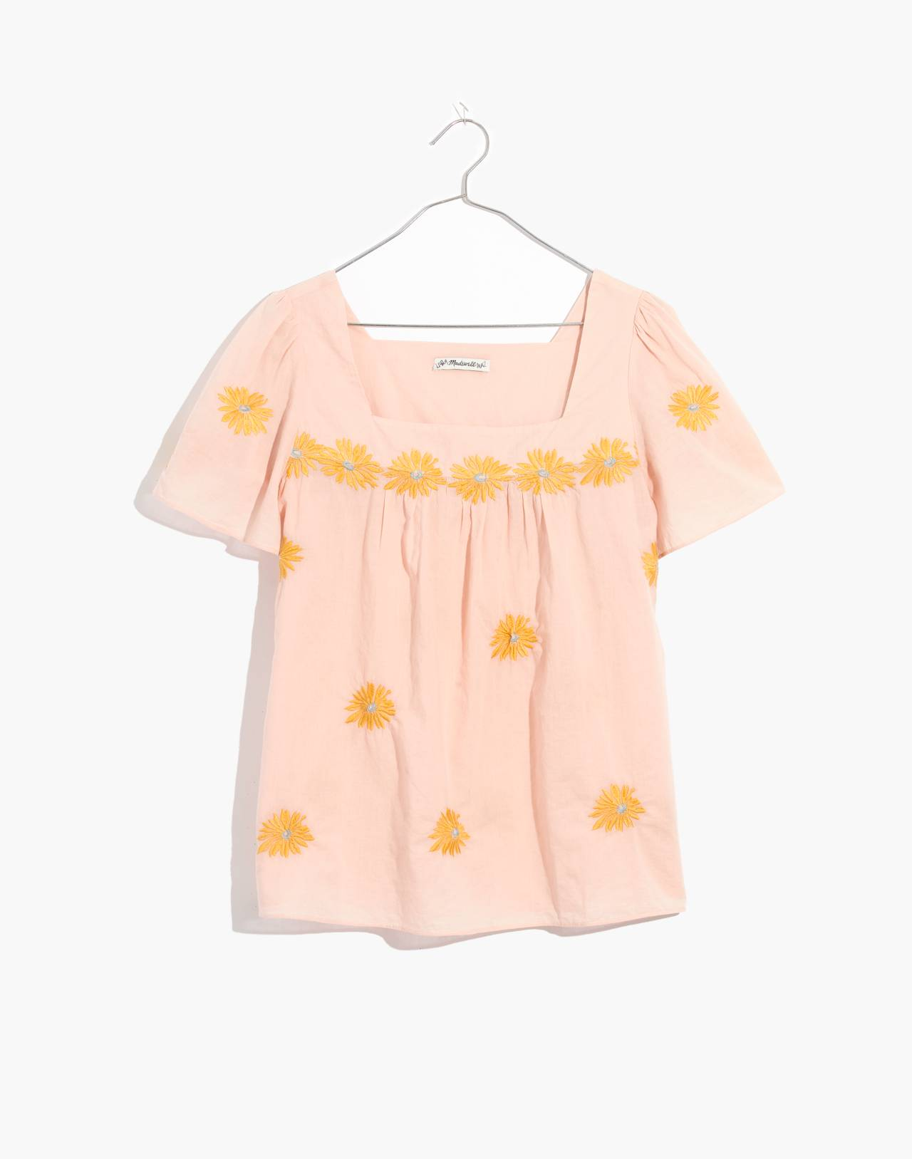 Floral Embroidered Butterfly Top in bashful blush image 1