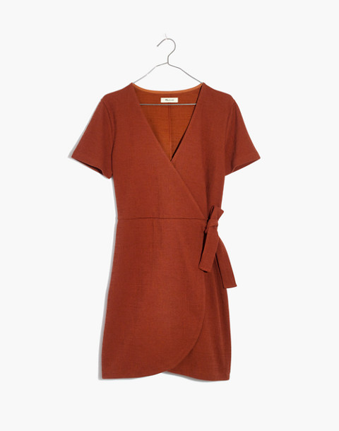 Texture & Thread Short-Sleeve Side-Tie Dress in burnt clay image 4