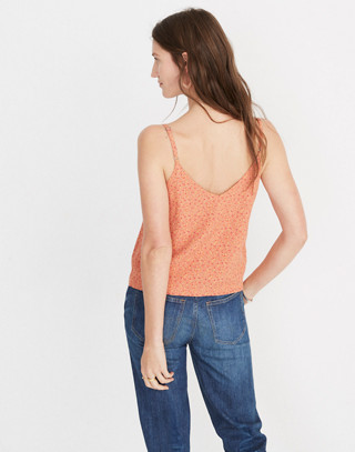 Button-Down Cami Top in Playground Posies in adorable floral rusted tin image 3