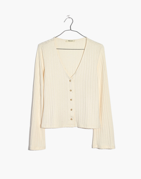 Bell-Sleeve Cardigan Top in pearl ivory image 1