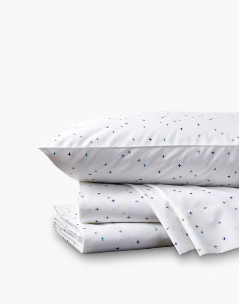 Coyuchi® Scattered Sky Printed Organic Cotton Sheet Set in blue image 1