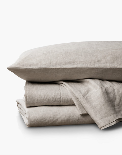 Coyuchi® Organic Linen Chambray Full/Queen Duvet Cover in natural image 1