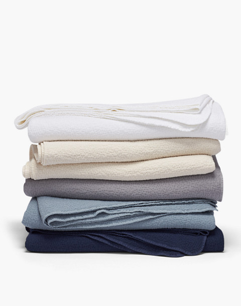 Coyuchi® Cascade Organic Cotton Matelasse Blanket in blue image 2