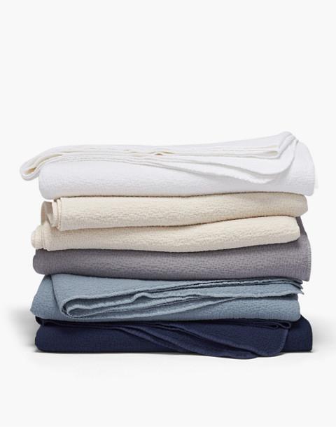 Coyuchi® Cascade Organic Cotton Matelasse Blanket in white image 2