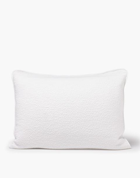 Coyuchi® Cascade Organic Cotton Matelasse Pillow Sham in white image 1