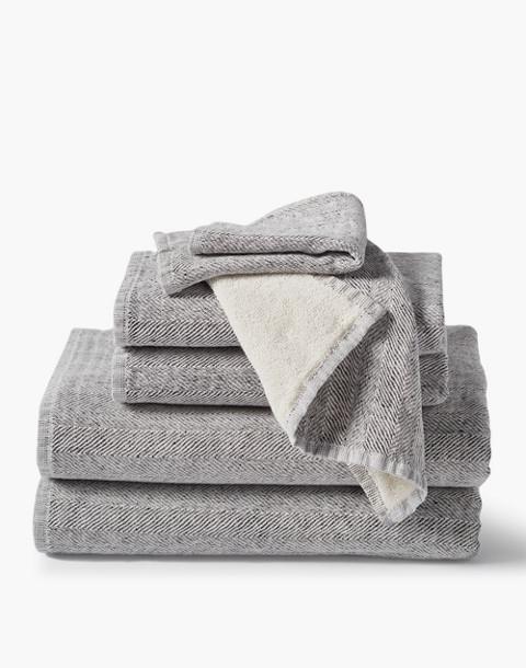Coyuchi® Organic Cotton Six-Piece Towel Set in gray image 1