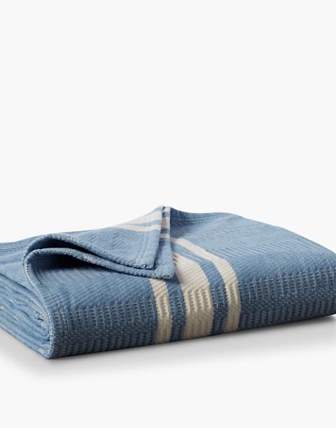 Coyuchi® Cirrus Supersoft Organic Cotton Throw Blanket in blue image 1