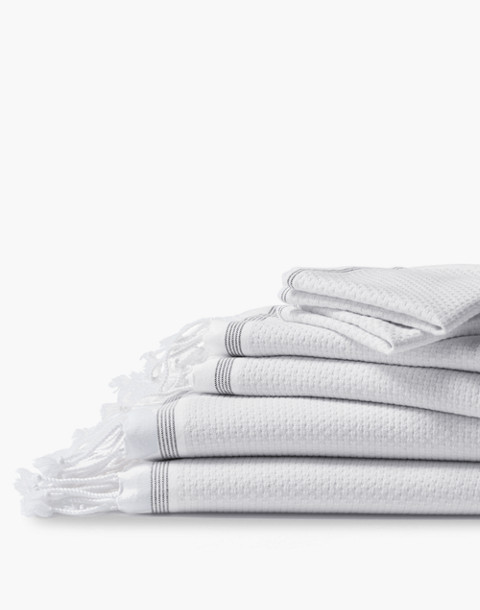Coyuchi® Mediterranean Organic Cotton Six-Piece Towel Set in white image 1