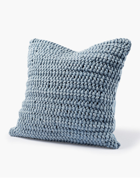 Coyuchi® Woven Rope Organic Cotton Pillow Cover in blue image 2