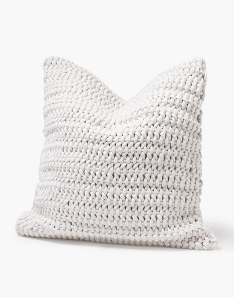 Coyuchi® Woven Rope Organic Cotton Pillow Cover in white image 1
