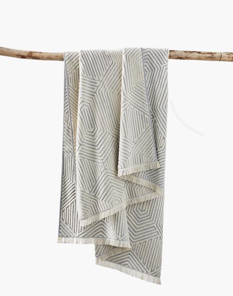 Coyuchi® Zuma Organic Cotton Beach Towel in blue image 1