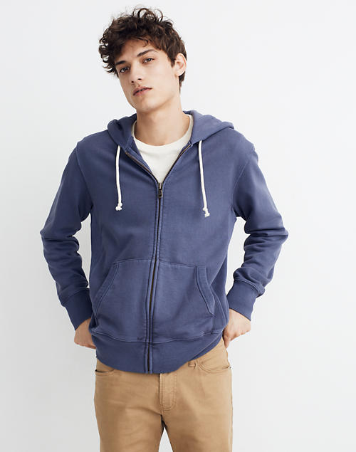 Garment Dyed Zip Front Hoodie Sweatshirt by Madewell
