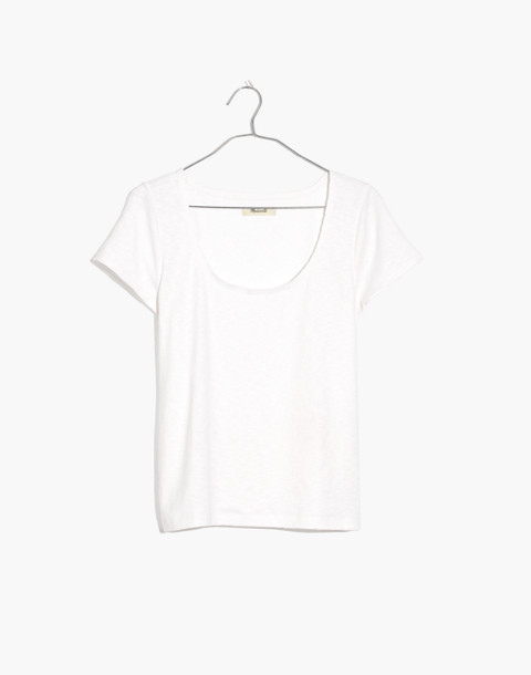 Scoopneck Baby Tee in bright ivory image 1
