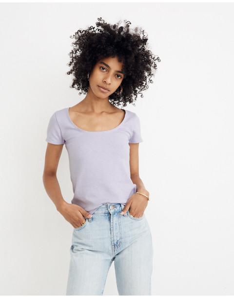 Scoopneck Baby Tee in sundrenched lilac image 1