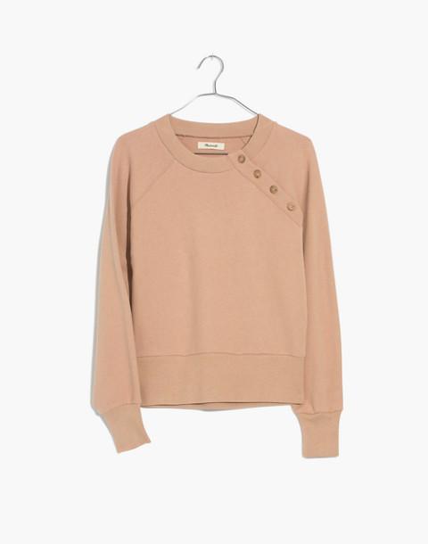 Button-Detail Sweatshirt in sandstone image 1