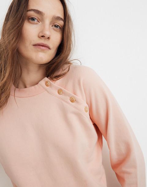 Button-Detail Sweatshirt in bashful blush image 2