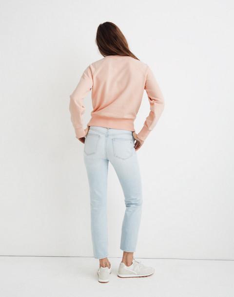 Button-Detail Sweatshirt in bashful blush image 3