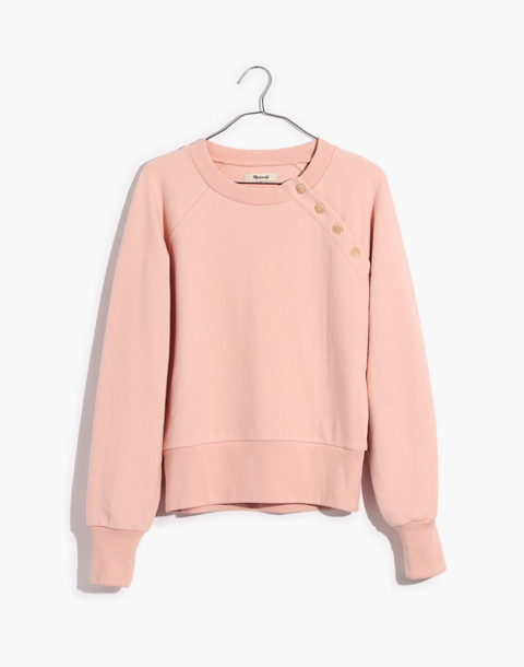 Button-Detail Sweatshirt in bashful blush image 4