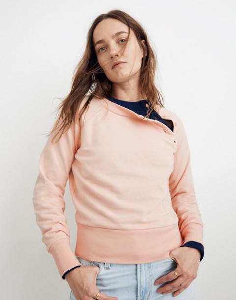 Button-Detail Sweatshirt in bashful blush image 1
