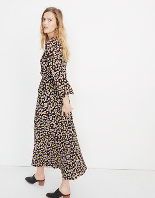 Petite Wrap Front Maxi Dress In French Floral by Madewell