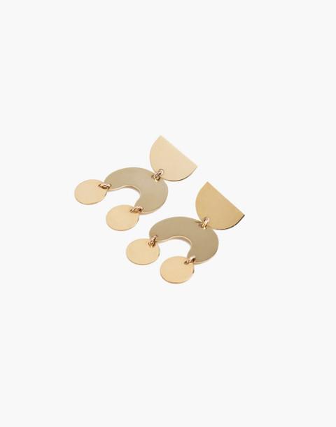 Modern Weaving™ Mini Moon Dancer Earrings in brass image 1