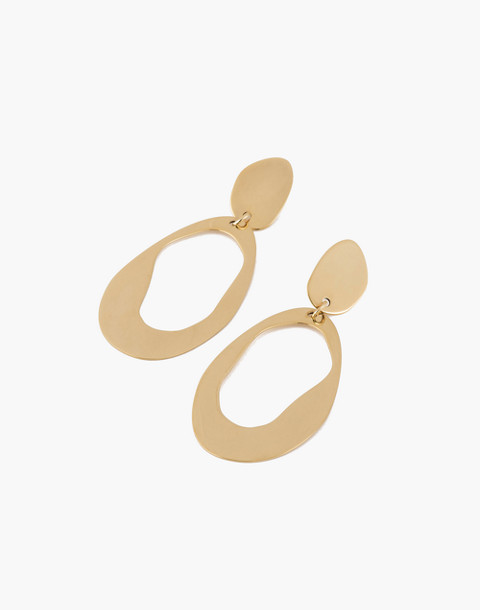 Modern Weaving™ Large Oval Loop Earrings in brass image 1