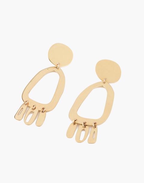 Modern Weaving™ Odd Oval Earrings in brass image 1