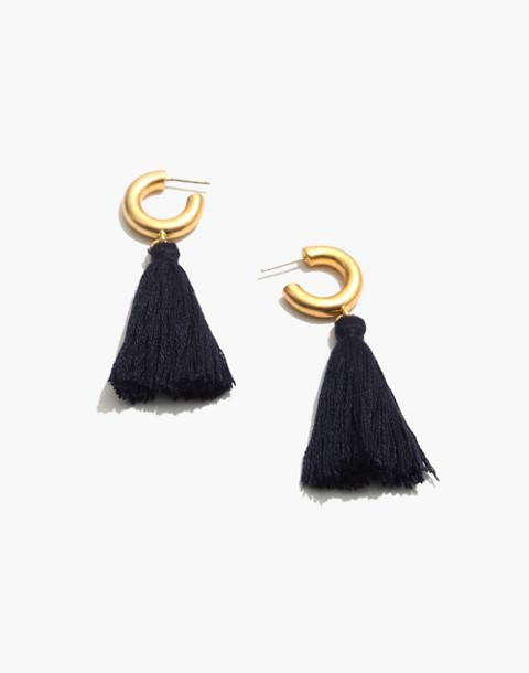 Lantern Tassel Earrings in hthr pacific image 1