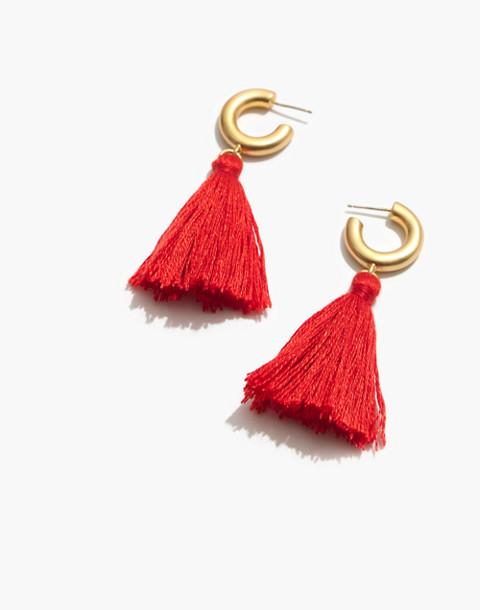 Lantern Tassel Earrings in coastal orange image 1
