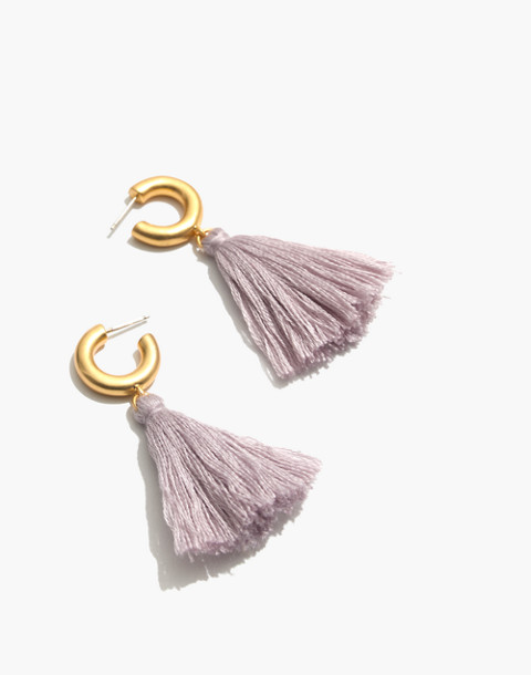 Lantern Tassel Earrings in sundrenched lilac image 1