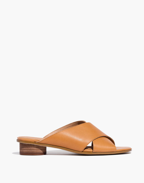 The Ruthie Crisscross Mule in Leather in desert camel image 2