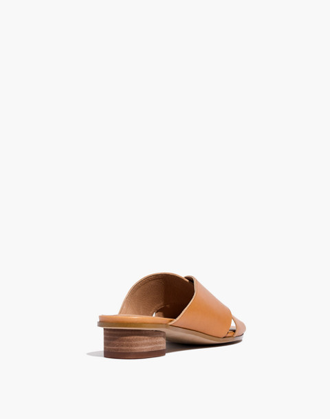 The Ruthie Crisscross Mule in Leather in desert camel image 3