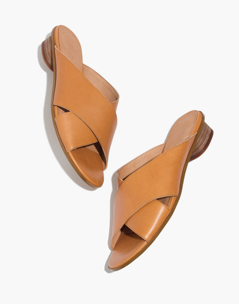 The Ruthie Crisscross Mule in Leather in desert camel image 1