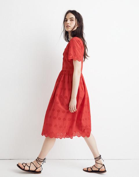 b612a30822a2 Shoptagr | Scalloped Eyelet Midi Dress by Madewell