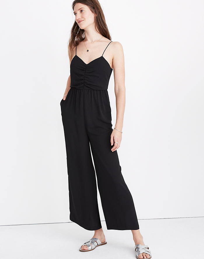 467df5eabcef Tall Ruched Wide-Leg Jumpsuit