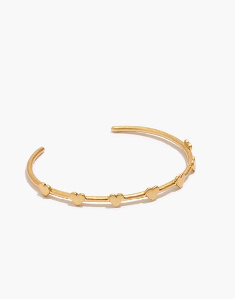 Heartstrings Cuff Bracelet in vintage gold image 1