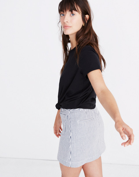 Knot-Front Tee in true black image 2