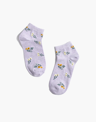 Daisy Sketch Anklet Socks by Madewell