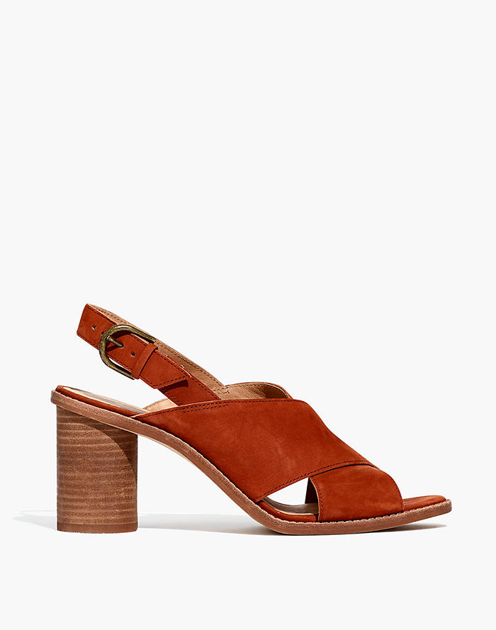 7c8fde63f964af The Ruthie Crisscross Sandal in Nubuck Leather