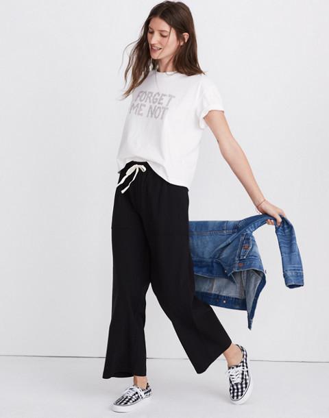 Drawstring Knit Pants in true black image 3