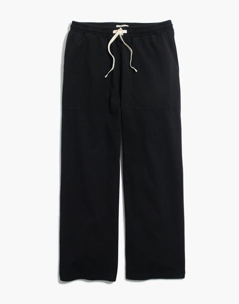 Drawstring Knit Pants in true black image 4