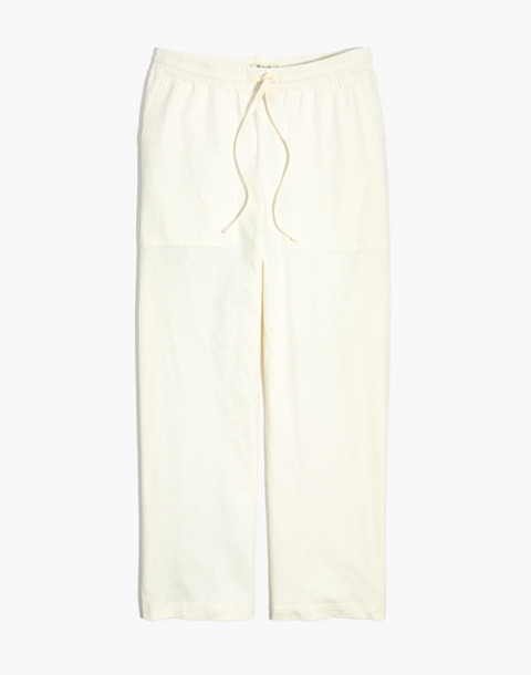 Drawstring Knit Pants in bright ivory image 1