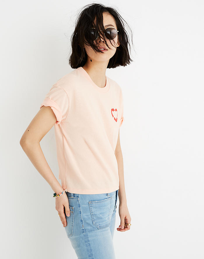 0b1c5d945fc2d7 Madewell x charity  water Heart Recycling Easy Crop Tee