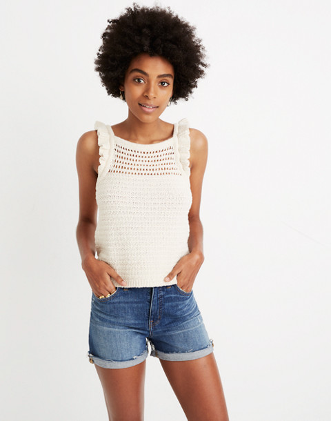 Ruffled Crochet Sweater Tank by Madewell