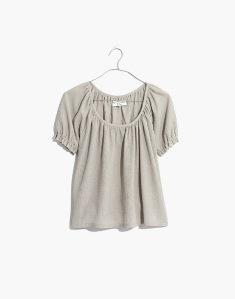 Texture & Thread Peasant Top in sunfaded sage image 1