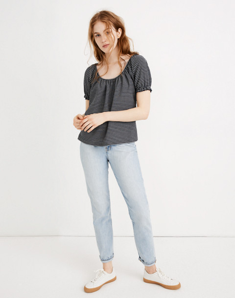 Texture & Thread Peasant Top In Stripe by Madewell