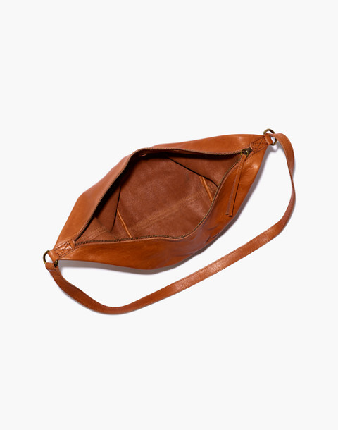 The Leather Sling Bag in english saddle image 2