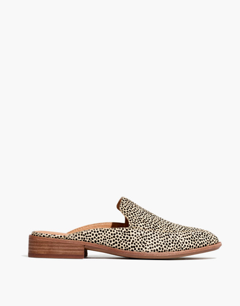 The Frances Loafer Mule in Spotted Calf Hair in dried flax multi image 2