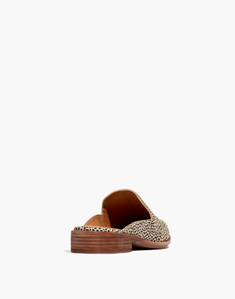 The Frances Loafer Mule in Spotted Calf Hair in dried flax multi image 3